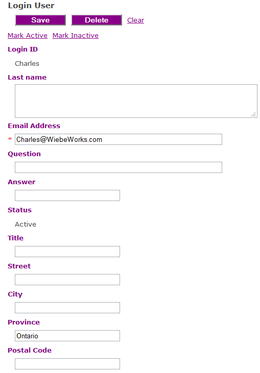 Figure 4: Jazz Logged-in User Profile Editor